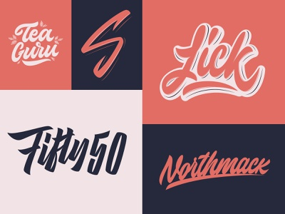 Lettering Logotypes Collection typography typo type streetwear sketches script packaging mark logotype logo lettering identity hand lettering free font fashion design clothing calligraphy branding