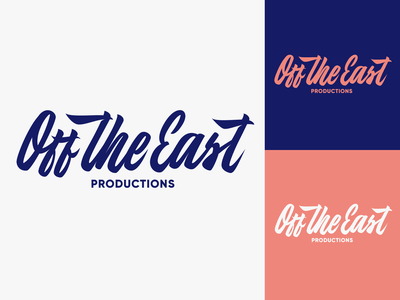 Off the East - Logo Sketch for independent production company typography typo type streetwear sketches script packaging mark logotype logo lettering identity hand lettering free font fashion design clothing calligraphy branding