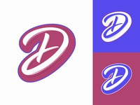 "Dnative - Symbol ""D"" for blog about social media marketing typography typo type streetwear sketches script packaging mark logotype logo lettering identity hand lettering free font fashion design clothing calligraphy branding"