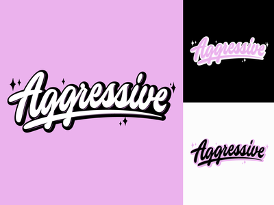 Aggressive - T-Shirt Lettering Print for Accessories Brand typography typo type streetwear sketches script packaging mark logotype logo lettering identity hand lettering free font fashion design clothing calligraphy branding