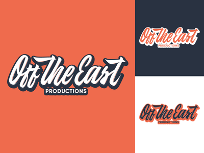 Off the East - Logo for independent production company typography typo type streetwear sketches script packaging mark logotype logo lettering identity hand lettering free font fashion design clothing calligraphy branding