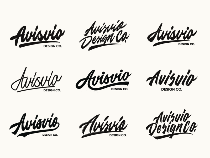 Avisvio - Lettering Logo Sketches Collection for Design Studio typography typo type streetwear sketches script packaging mark logotype logo lettering identity hand lettering free font fashion design clothing calligraphy branding