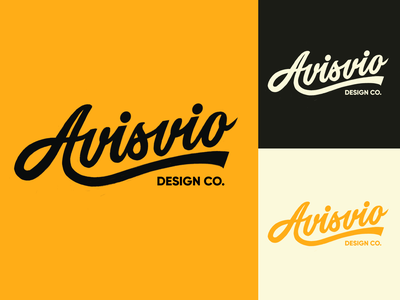 Avisvio - Lettering Logo Sketch for Design Studio typography typo type streetwear sketches script packaging mark logotype logo lettering identity hand lettering free font fashion design clothing calligraphy branding