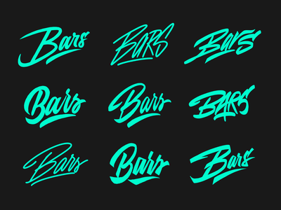Bars Collection - Logo Sketches for Clothing Brand from Lon typography typo type streetwear sketches script packaging mark logotype logo lettering identity hand lettering free font fashion design clothing calligraphy branding