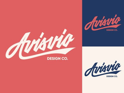 Avisvio - Lettering Logo for Design Studio typography typo type streetwear sketches script packaging mark logotype logo lettering identity hand lettering free font fashion design clothing calligraphy branding