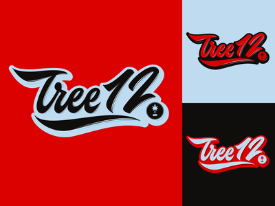 Tree12 - Lifestyle Clothing Brand from Chicago typography typo type streetwear sketches script packaging mark logotype logo lettering identity hand lettering free font fashion design clothing calligraphy branding