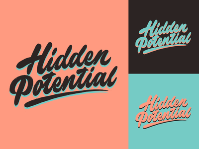 Hidden Potential -  Logo Sketch for Medical Brand typography typo type streetwear sketches script packaging mark logotype logo lettering identity hand lettering free font fashion design clothing calligraphy branding