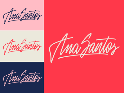 Ana Santos - Logo Sketch for UX-consultant form Portugal typography typo type streetwear sketches script packaging mark logotype logo lettering identity hand lettering free font fashion design clothing calligraphy branding
