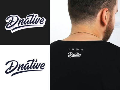 Dnative - Logo for blog about social media marketing typography typo type streetwear sketches script packaging mark logotype logo lettering identity hand lettering free font fashion design clothing calligraphy branding