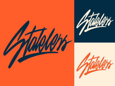 Stateless - Lettering Logo Sketch for Streetwear Brand typography typo type streetwear sketches script packaging mark logotype logo lettering identity hand lettering free font fashion design clothing calligraphy branding