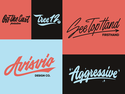 Lettering Logotypes Collection typo type streetwear sketches script packaging mark logotype logo lettering identity hand lettering free font fashion design clothing calligraphy branding typography