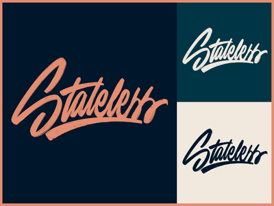 Stateless - Lettering Logo Sketch for Streetwear Brand typo type streetwear sketches script packaging mark logotype logo lettering identity hand lettering free font fashion design clothing calligraphy branding typography