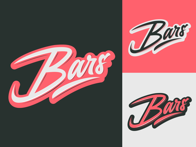 Bars - Logo for Clothing Brand from London typography typo type streetwear sketches script packaging mark logotype logo lettering identity hand lettering free font fashion design clothing calligraphy branding