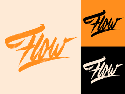 Flow - Logo Sketch for Streetwear Brand from Melbourne typography typo type streetwear sketches script packaging mark logotype logo lettering identity hand lettering free font fashion design clothing calligraphy branding