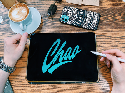 Chao - Logo Sketch for Streetwear Brand from Miami typography typo type streetwear sketches script packaging mark logotype logo lettering identity hand lettering free font fashion design clothing calligraphy branding