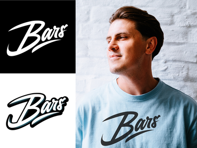 Bars - Lettering logo for Clothing Brand from London typography typo type streetwear sketches script packaging mark logotype logo lettering identity hand lettering free font fashion design clothing calligraphy branding