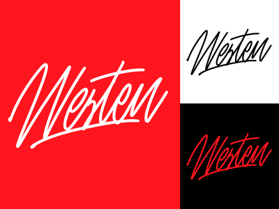 Westen - Lettering Logo Sketches for YouTube blogger typography typo type streetwear sketches script packaging mark logotype logo lettering identity hand lettering free font fashion design clothing calligraphy branding