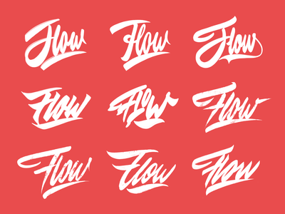 Flow - Sketches Collection for Streetwear Brand from Melbourne typography typo type streetwear sketches script packaging mark logotype logo lettering identity hand lettering free font fashion design clothing calligraphy branding