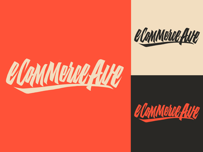 eCommerce Ave - Logo Sketch for Lifestyle Brand from Ohio typography typo type streetwear sketches script packaging mark logotype logo lettering identity hand lettering free font fashion design clothing calligraphy branding