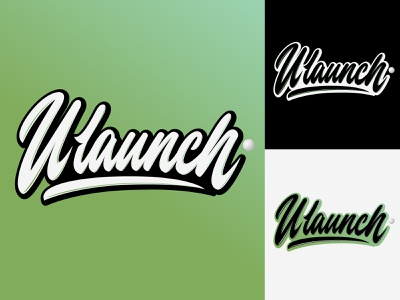 ULaunch - Lettering Logo for Fitness training program typography typo type streetwear sketches script packaging mark logotype logo lettering identity hand lettering free font fashion design clothing calligraphy branding