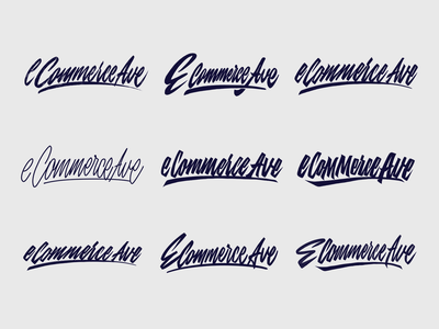 eCommerce Ave - Logo Sketches for Lifestyle Brand from Ohio typography typo type streetwear sketches script packaging mark logotype logo lettering identity hand lettering free font fashion design clothing calligraphy branding