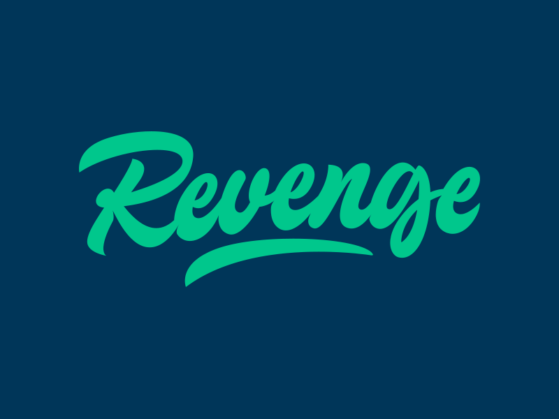 Revenge - Logo for Clothing Brand clothing streetwear design typo identity branding type script free font typography logo logotype lettering hand lettering calligraphy
