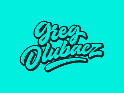 Greg Dlubacz - Logo for Designer packaging mark clothing streetwear design typo identity branding sketch sketches type script font typography logotype logo lettering hand lettering free calligraphy