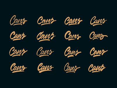 Cans - Logo Sketches for Graffiti Shop packaging mark clothing streetwear design typo identity branding sketch sketches type script font typography logotype logo lettering hand lettering free calligraphy
