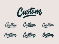 Custom - Lettering Sketches