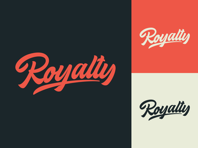 Royalty - Logo for Clothing Brand fashion packaging mark clothing streetwear design typo identity branding sketches type script font typography logotype logo lettering hand lettering free calligraphy
