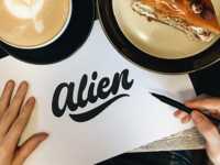 Alien - Logo Sketch for Photographer