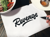Revenge - Logo Sketch for Clothing Brand