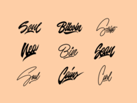 Lettering Sketches Collection