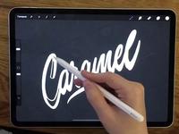 Caramel - Lettering Logo Process