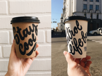 Coffee Cups - Experimental Lettering