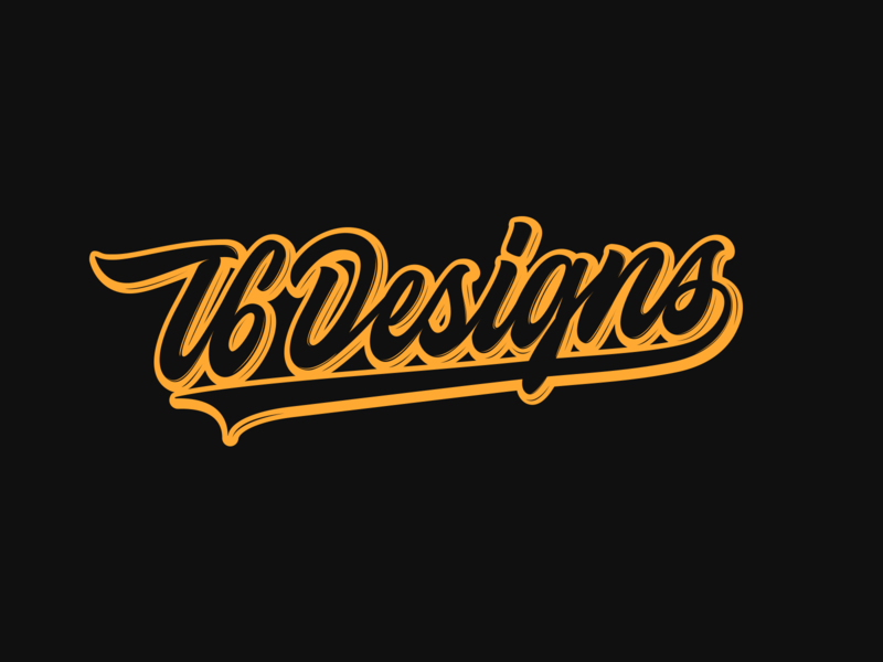T6 Designs - Lettering for Clothing Brand fashion packaging mark clothing streetwear design typo identity branding sketches type script free font typography logotype logo lettering hand lettering calligraphy