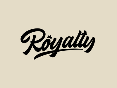 Royalty - Logo for Clothing Brand fashion packaging mark clothing streetwear design typo identity branding sketches type script free font typography logotype logo lettering hand lettering calligraphy