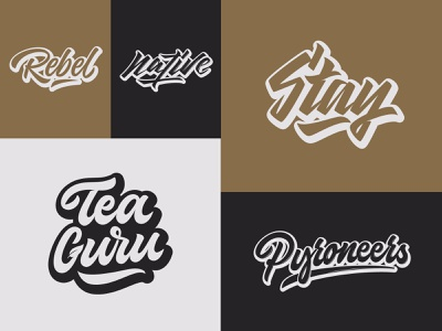 Some Lettering Logos fashion packaging mark clothing streetwear design typo identity branding sketches type script free font typography logotype logo lettering hand lettering calligraphy