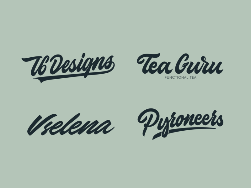 Lettering Set fashion packaging mark clothing streetwear design typo identity branding sketches type script free font typography logotype logo lettering hand lettering calligraphy