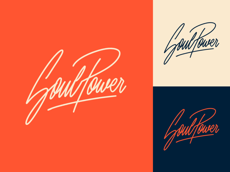 Soul Power - Logo Sketch for Dance Crew fashion packaging mark clothing streetwear design typo identity branding sketches type script free font typography logotype logo lettering hand lettering calligraphy