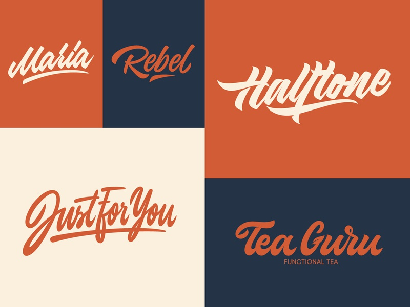 Some Lettering Logotypes fashion packaging mark clothing streetwear design typo identity branding sketches free type script font typography logotype logo lettering hand lettering calligraphy