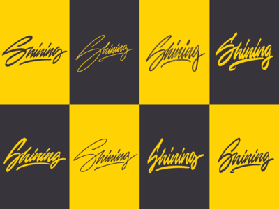 Shining - Personal Logo Sketches