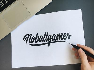 Noballgames - Logo Sketch for Lifestyle-brand
