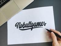 Noballgames - Logo Sketch for Lifestyle-brand