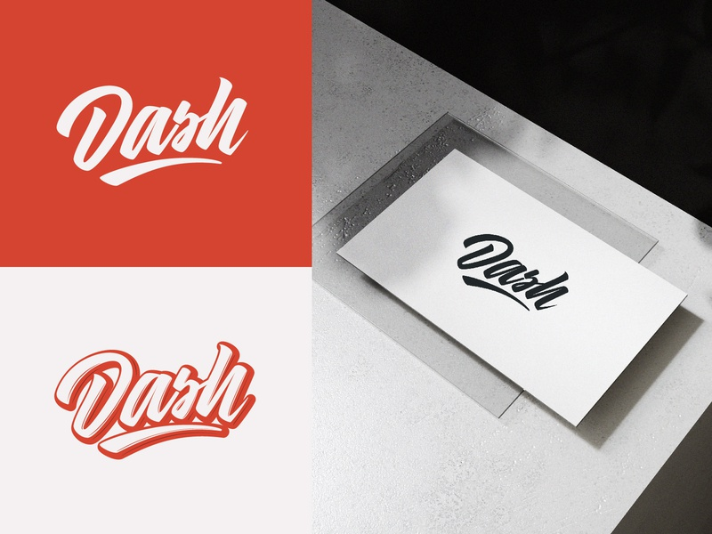 Dash - Full Logo Project for Dash Creative Strategy fashion packaging mark clothing streetwear design typo identity branding sketches free type script font typography logotype logo lettering hand lettering calligraphy