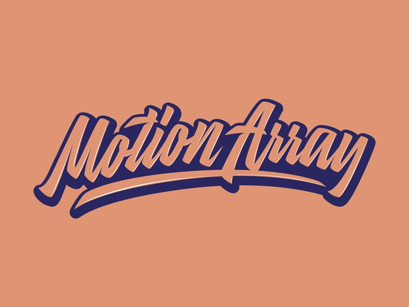 Motion Array - Logo for stock media marketplace fashion packaging mark clothing streetwear design typo identity branding sketches free type script font typography logotype logo lettering hand lettering calligraphy