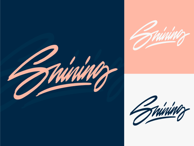 Shining - Personal Logo Sketches fashion packaging mark clothing streetwear design typo identity branding sketches free type script font typography logotype logo lettering hand lettering calligraphy