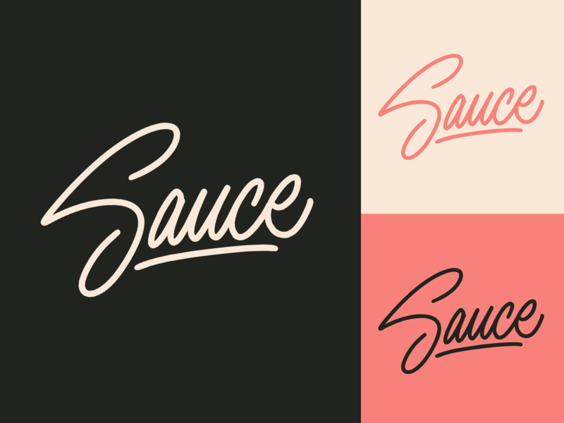 Sauce - Sketch for burger-restaurant menu fashion packaging mark clothing streetwear design typo identity branding sketches free type script font typography logotype logo lettering hand lettering calligraphy