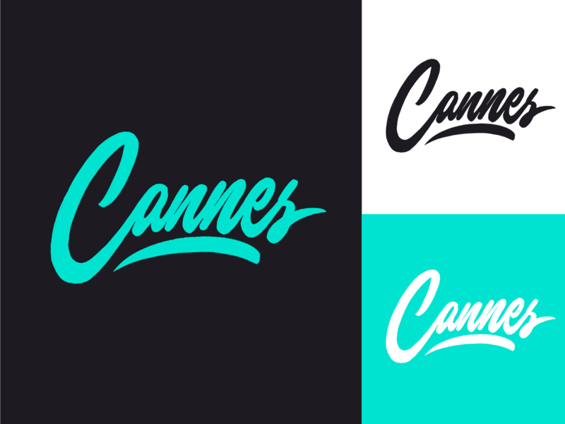 Cannes - City Logo Sketch fashion packaging mark clothing streetwear design typo identity branding sketches free type script font typography logotype logo lettering hand lettering calligraphy