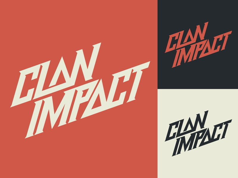 Clan Impact - Logo for E-Sports Organization fashion packaging mark clothing streetwear design typo identity branding sketches free type script font typography logotype logo lettering hand lettering calligraphy
